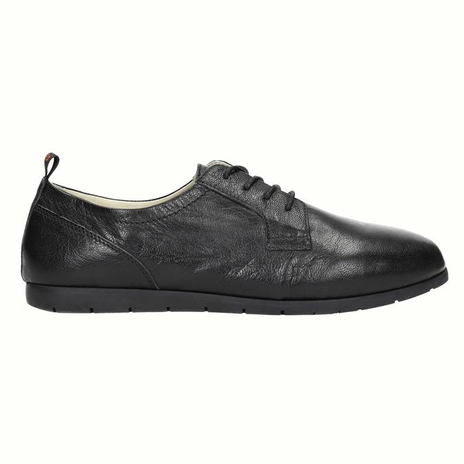 Chaussure lacée en cuir pour femme flexible, Noir, 524-6565 - 15