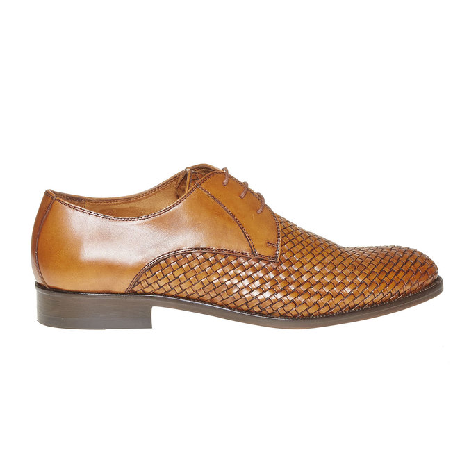 Chaussures en cuir pour homme avec détail entrelacé bata-the-shoemaker, Brun, 824-3295 - 15