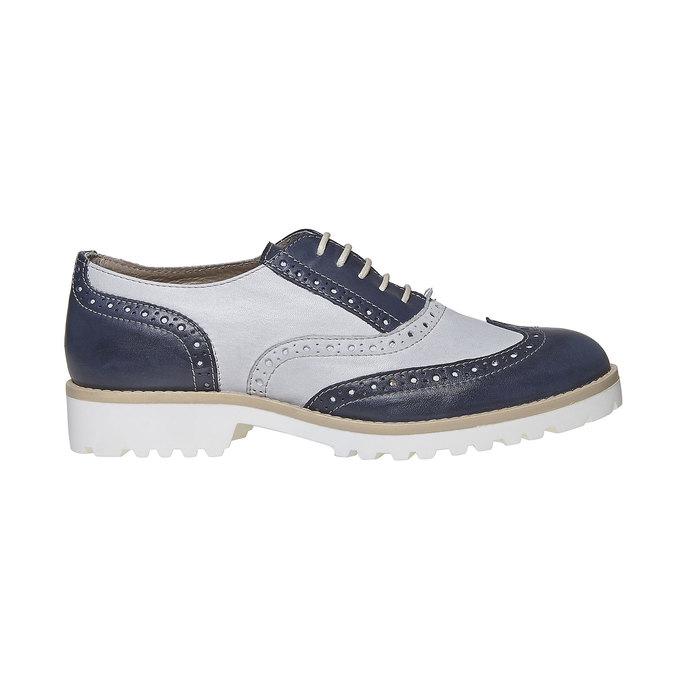 Chaussure Oxford en cuir pour femme bata, Violet, 524-9128 - 15