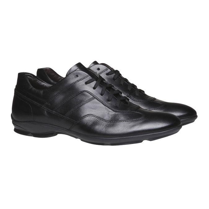 Chaussure de ville à lacet bata, Noir, 824-6988 - 26