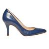 Escarpin pointu en cuir bleu bata, Violet, 724-9607 - 15