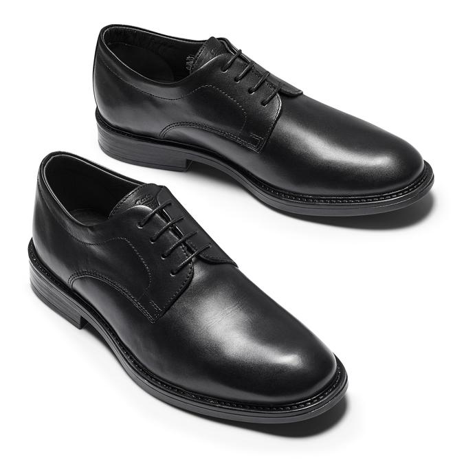 Chaussures en cuir pour hommes bata-comfit, Noir, 824-6938 - 19
