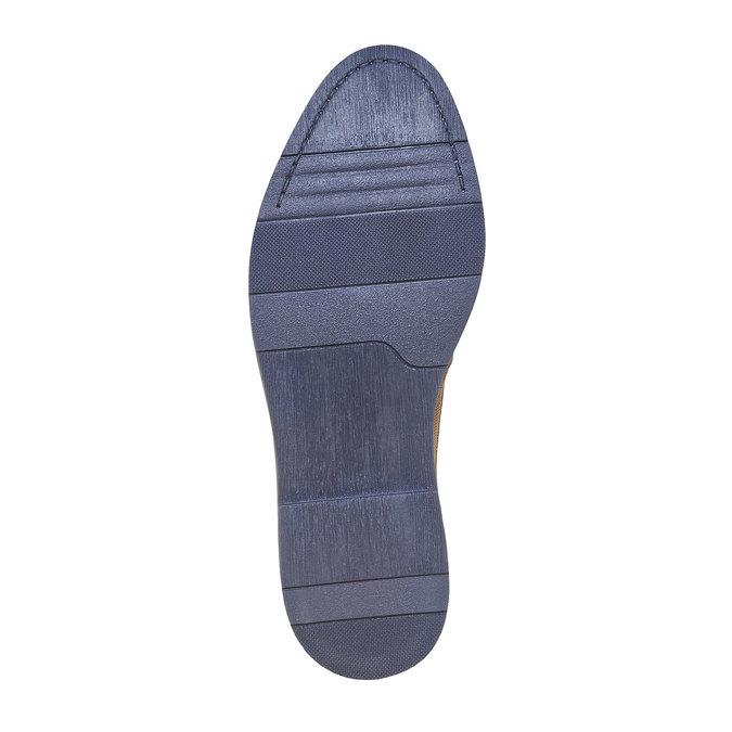 Chaussure lacée en cuir à semelle épaisse bata, Gris, 823-2258 - 26
