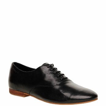 Chaussure lacée en cuir pour femme vagabond, Noir, 524-6013 - 13