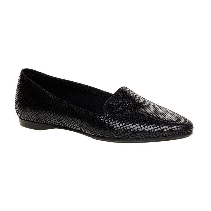 Slip on en cuir pour femme vagabond, Noir, 526-6007 - 13