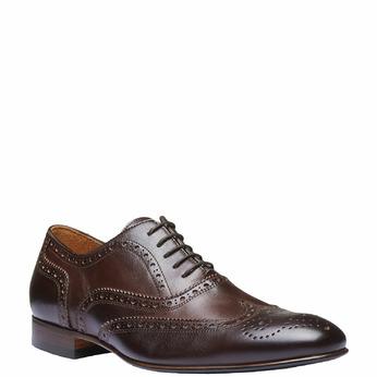 Chaussure lacée en cuir pour homme avec décoration shoemaker, Brun, 824-4145 - 13