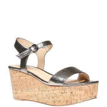 Sandale à plateforme bata, Blanc, 761-1528 - 13