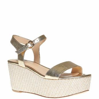 Sandale dorée à plateforme bata, Jaune, 761-8530 - 13