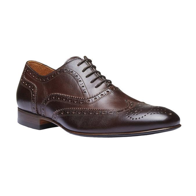 Chaussure lacée en cuir pour homme avec décoration bata-the-shoemaker, Brun, 824-4145 - 13