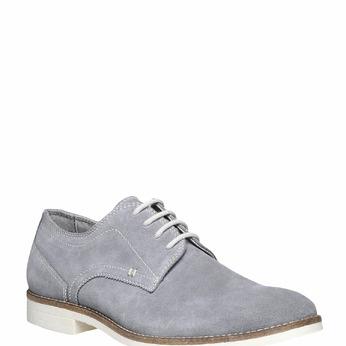 Chaussure lacée Derby en cuir bata, Gris, 823-2558 - 13