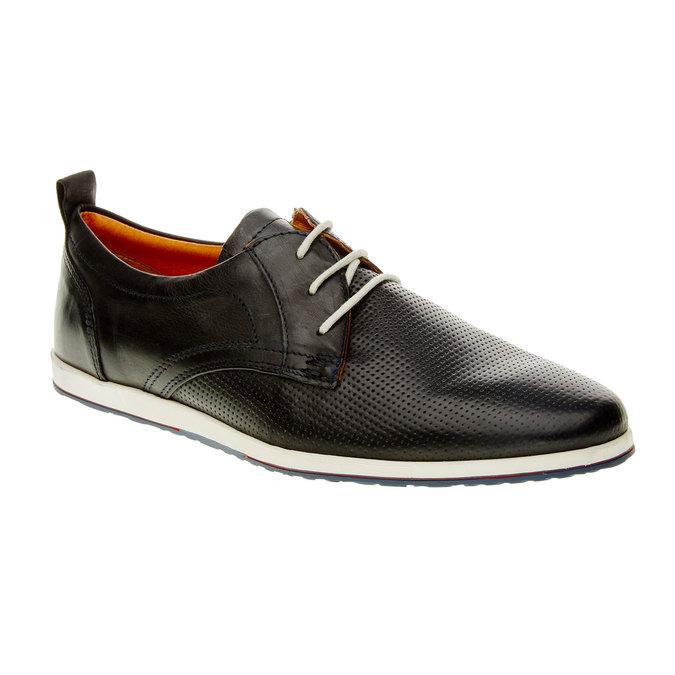 Chaussure lacée décontractée en cuir bata, Noir, 824-9124 - 13