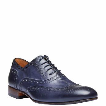 Chaussure lacée en cuir pour homme avec décoration bata-the-shoemaker, Violet, 824-9145 - 13