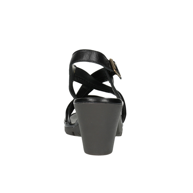 Sandale en cuir femme flexible, Noir, 764-6538 - 17