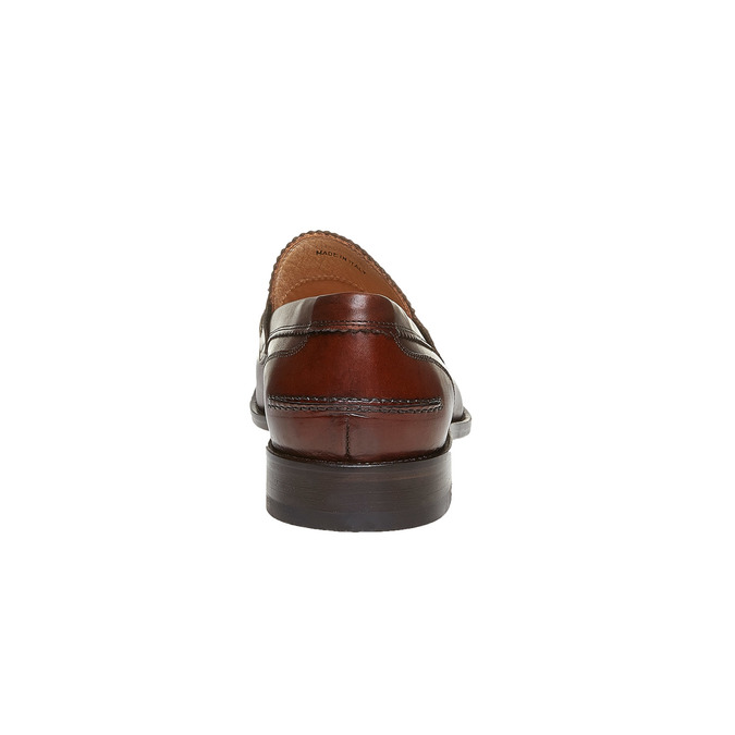Penny Loafers en cuir pour homme bata-the-shoemaker, Brun, 814-4160 - 17