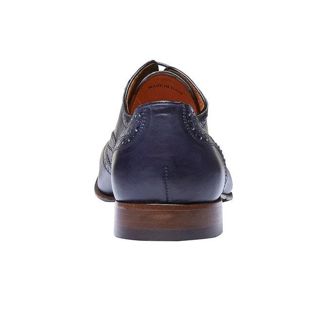 Chaussure lacée en cuir pour homme avec décoration shoemaker, Violet, 824-9145 - 17