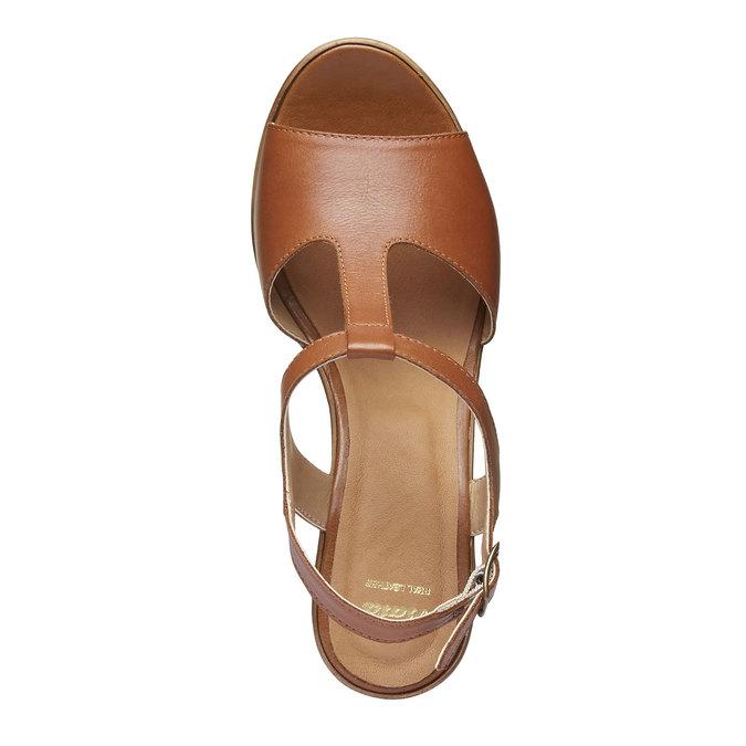 Sandale femme à talon massif bata, Brun, 764-4509 - 19