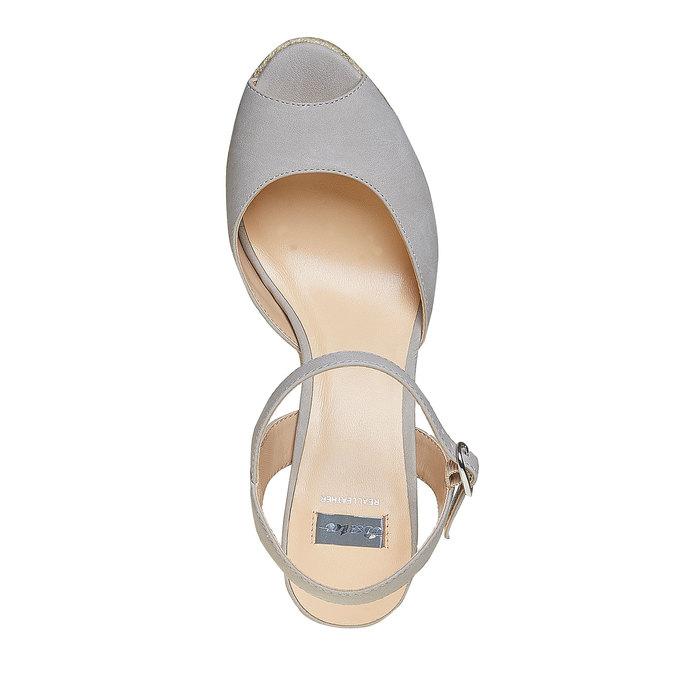 Sandale à plateforme bata, Gris, 761-2520 - 19