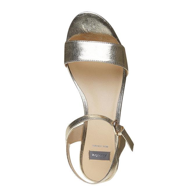 Sandale dorée à plateforme bata, Jaune, 761-8528 - 19