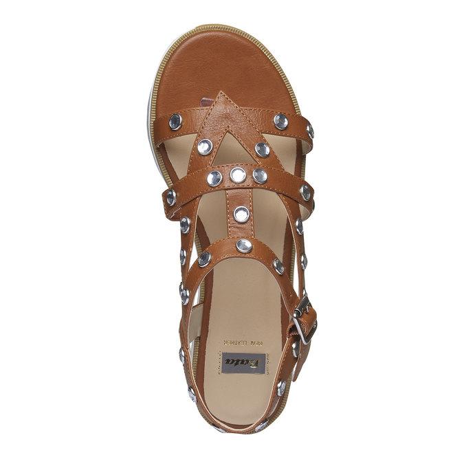 Sandale à lanières femme à semelle épaisse bata, Brun, 561-3225 - 19