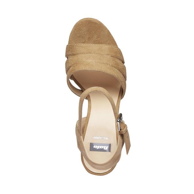Sandale femme à talon massif bata, Jaune, 769-8484 - 19