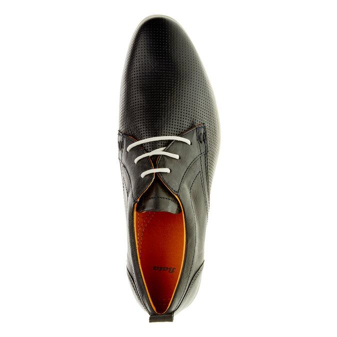 Chaussure lacée décontractée en cuir bata, Noir, 824-9124 - 19