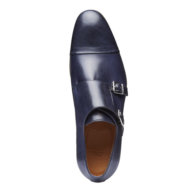 Monk Shoes en cuir pour homme shoemaker, Violet, 814-9144 - 19