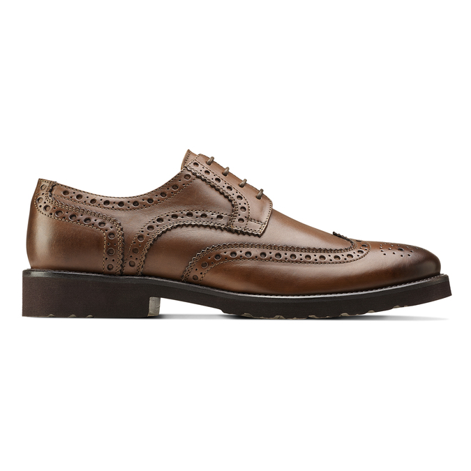 Derbies en cuir bata-light, Brun, 824-4399 - 26