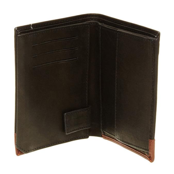 Porte-monnaie en cuir pour homme bata, Noir, 944-6150 - 16