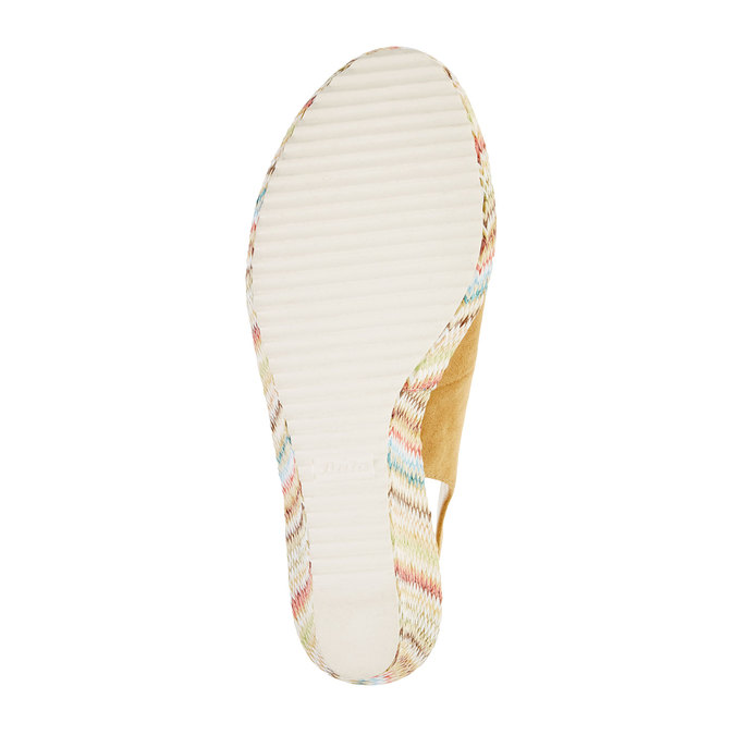 Sandale femme fermée sur les côtés bata, Jaune, 769-8522 - 26