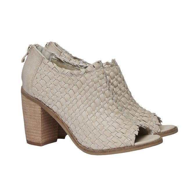 Sandale à bout ouvert bata, Jaune, 721-8945 - 26