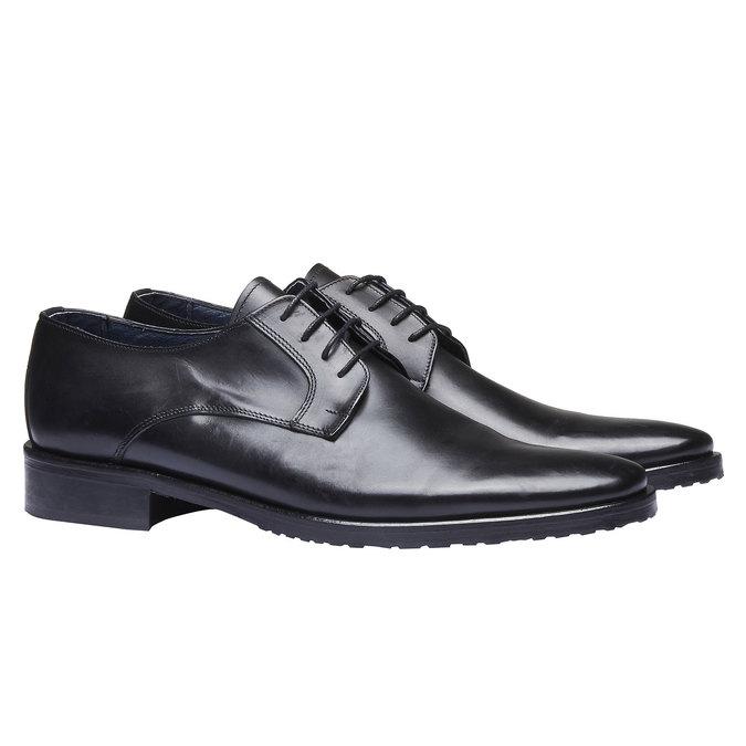 Chaussure lacée Derby en cuir bata, Noir, 824-6811 - 26