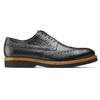 Chaussure lacée en cuir à semelle épaisse bata-the-shoemaker, Noir, 824-6190 - 26