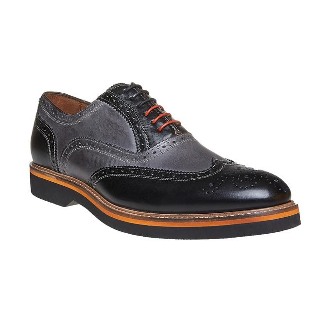 Oxford en cuir à semelle épaisse bata-the-shoemaker, Gris, 824-2132 - 13