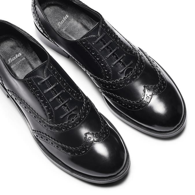 Chaussure en cuir dans le style Oxford bata, Noir, 524-6214 - 26