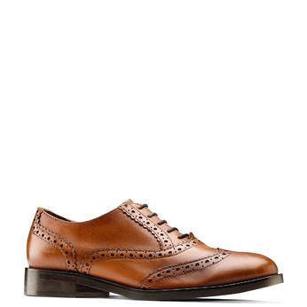 Chaussure en cuir pour femme dans le style Oxford bata, Brun, 524-3214 - 13