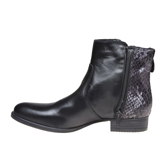 Bottines en cuir bata, Noir, 594-6208 - 19