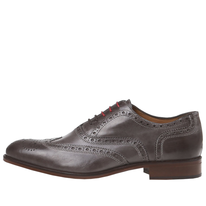 Oxford en cuir shoemaker, Gris, 824-2594 - 15