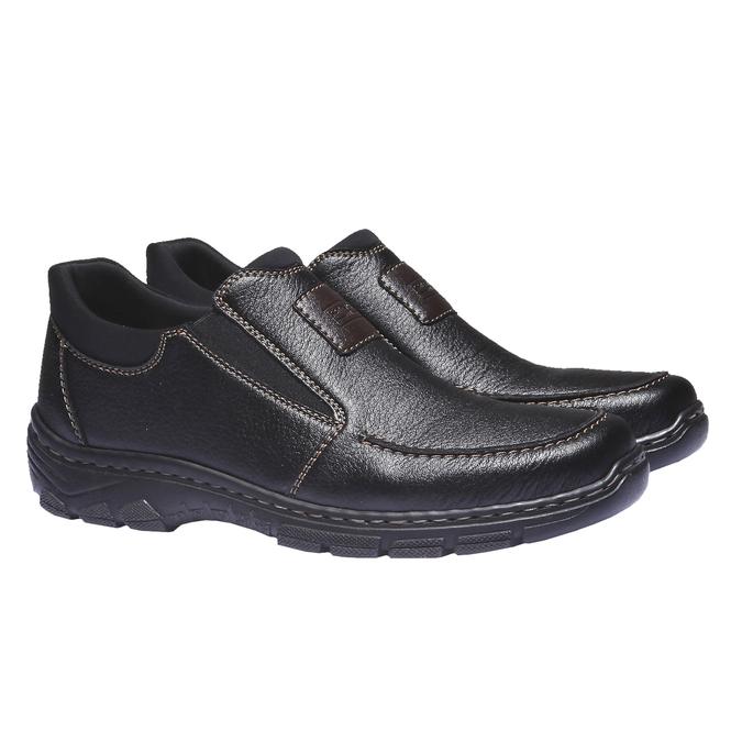 Chaussures à enfiler homme rieker, Noir, 814-6121 - 26