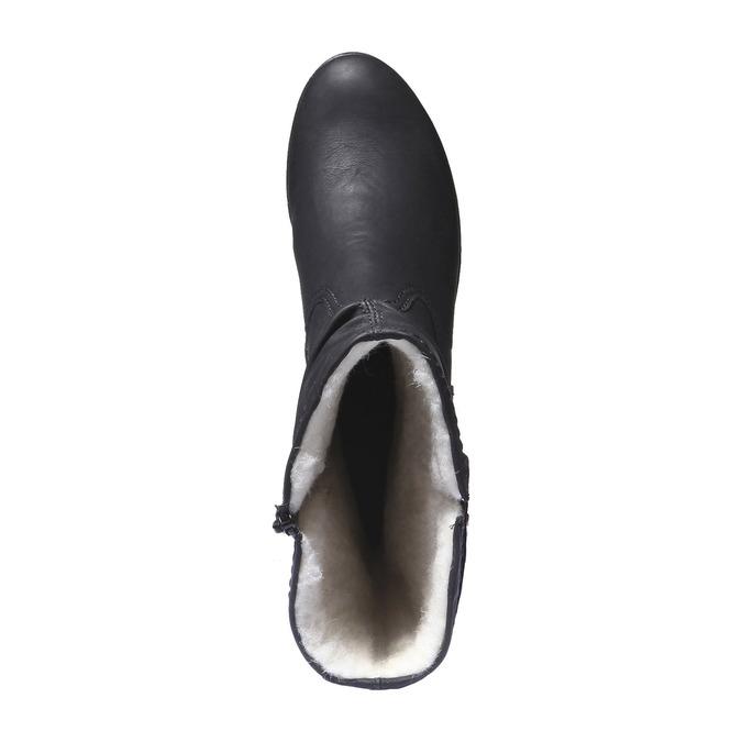 Bottes avec semelle de sentier rieker, Noir, 691-6200 - 19