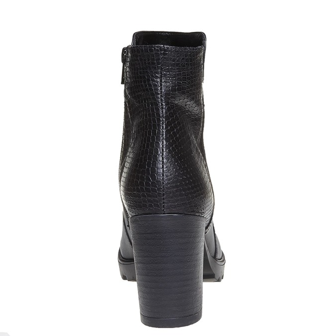 Chaussure en cuir pour femme bata, Noir, 794-6528 - 17