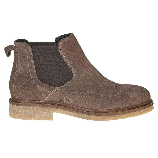 Chelsea Boots en cuir chamoisé bata, Gris, 593-2122 - 15