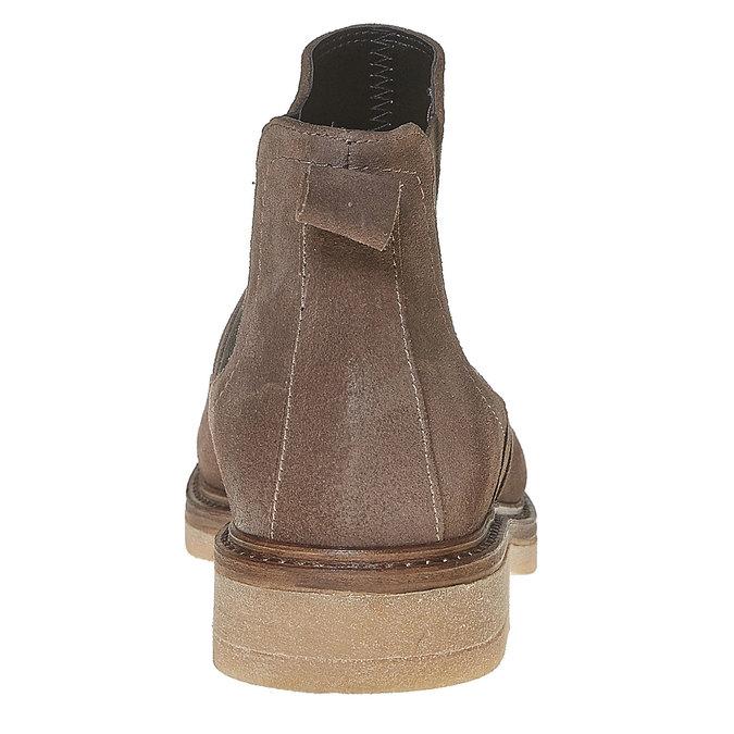 Chelsea Boots en cuir chamoisé bata, Gris, 593-2122 - 17