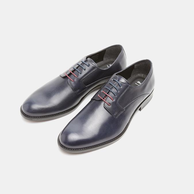 Chaussure lacée Derby en cuir bata, Violet, 824-9874 - 26