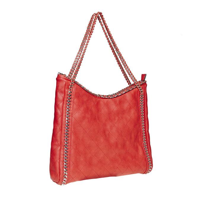 Sac à main femme rouge avec chaîne bata, Rouge, 961-5393 - 13