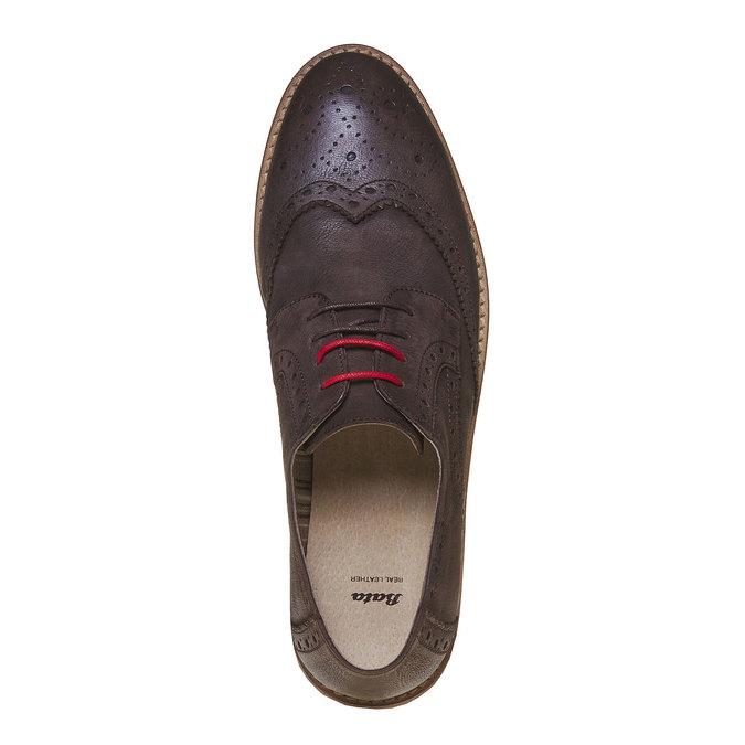 Chaussure en cuir homme bata, Brun, 824-4286 - 19