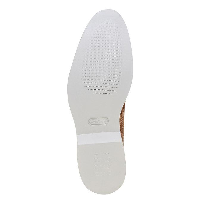 Chaussure lacée en cuir décoration Brogue bata-the-shoemaker, Brun, 824-3302 - 26