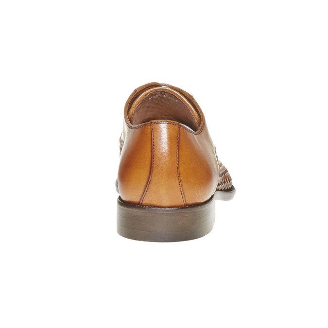 Chaussures en cuir pour homme avec détail entrelacé bata-the-shoemaker, Brun, 824-3295 - 17