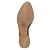 Bottine en cuir avec perforation bata, Noir, 594-6400 - 26