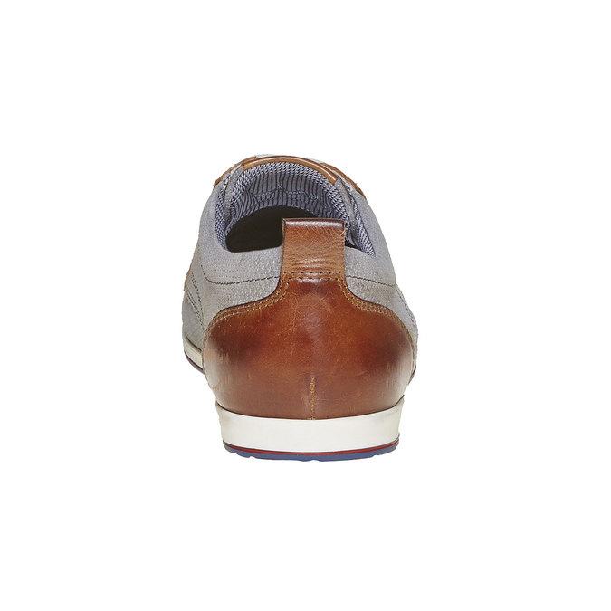 Chaussure décontractée en cuir bata, Gris, 823-2234 - 17