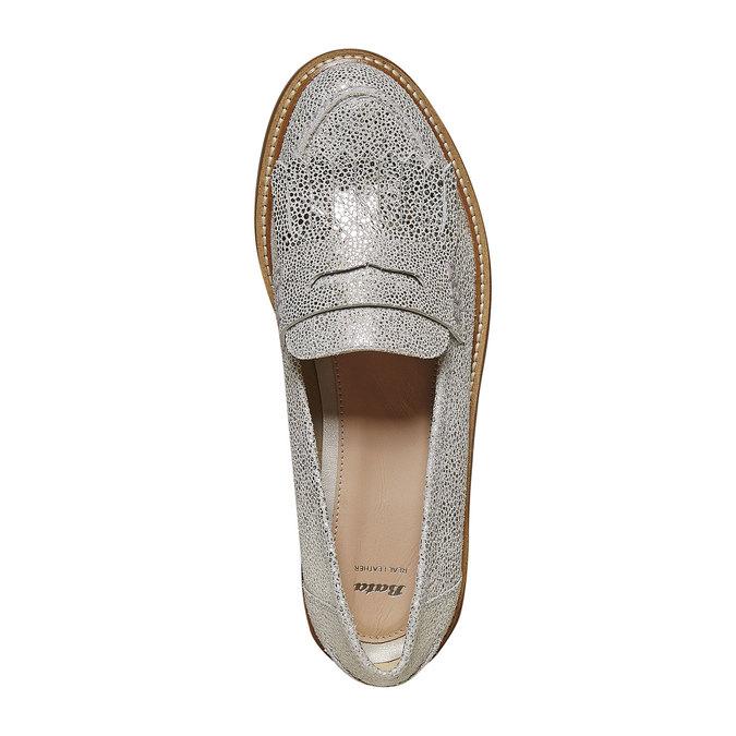 Loafer en cuir femme bata, Gris, 514-2272 - 19